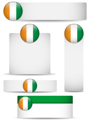 Ireland Country Set of Banners