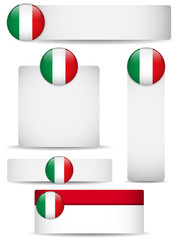 Italy Country Set of Banners