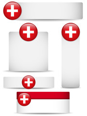 Switzerland Country Set of Banners