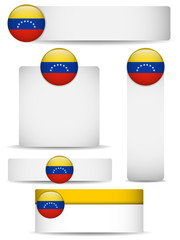 Venezuela Country Set of Banners