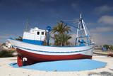 Fishing boat in Puerto de Mazarron, Murcia, Spain poster