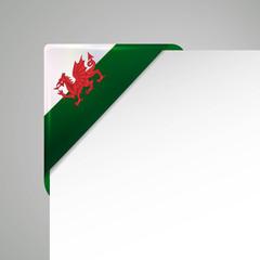 wales metallic looking flag corner