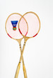 Two rackets for badminton