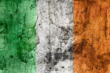 Irland Flagge (Grunge)