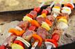 Shish kebab close up