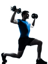 l'homme exerce une formation de poids entraînement de fitness posture