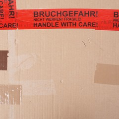 Fragile packet parcel
