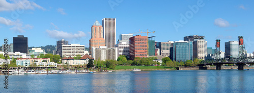 Portland Oregon skyline, panorama.