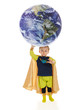 Planet Man Holds the World