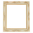 Old antique frame over white background