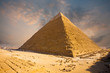 Fiery Sky Giza Pyramid Egypt