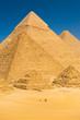 Tourist Riding Camel Base Giza Pyramids Egypt