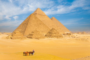 All Giza Pyramids Donkey Cart Family