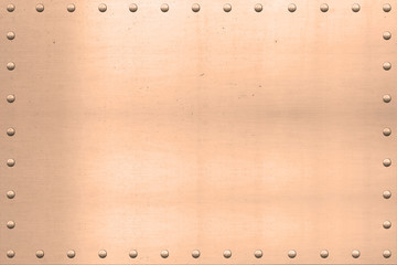 Vintage Copper Sheet, Riveted Edges