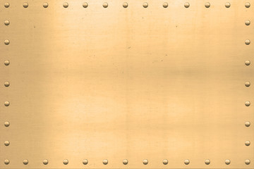 Vintage Gold Sheet, Riveted Edges