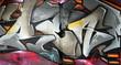 Fototapete Ausdruck - Fassade - Graffiti