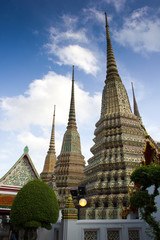 pagodas in temple