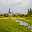 canvas print picture - Dorf in Holland, Marken