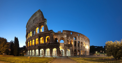 Night image of Coliseum in Rome - Italy