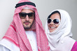 Arabian couple in a luxury