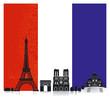 Frankreich mit Fahne
