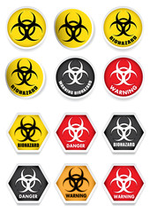 Bio hazard Stickers / Labels