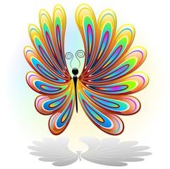 Farfalla Astratto Colori Design Butterfly Colors-Logo Vector