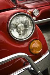 front headlight of a classic italian car