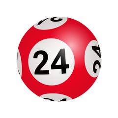 Tirage loto, boule numéro 24