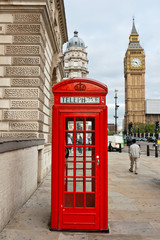 Red phone booth. London, England