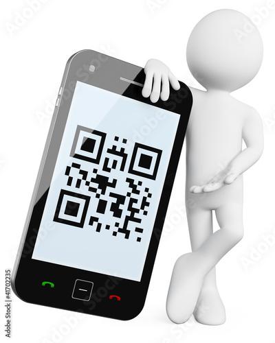 3D Man - Mobile QR codes