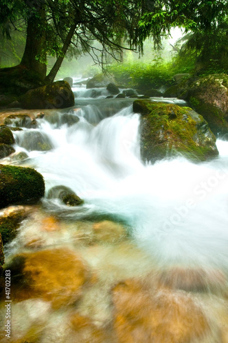 Mountain river in Tatra Mountains