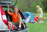 Summer camp - family on summer vacation