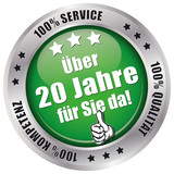 Über 20 Jahre für Sie da! - Button grün