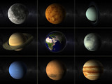 Planets collage - Fine Art prints