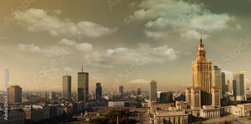 Naklejka Warsaw panorama