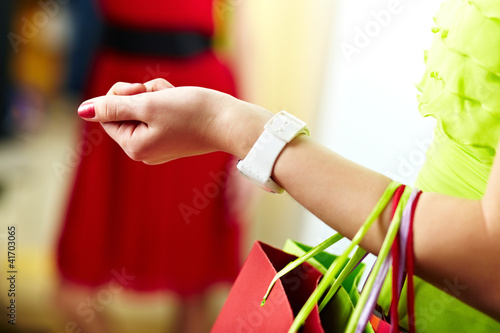 Holding bags