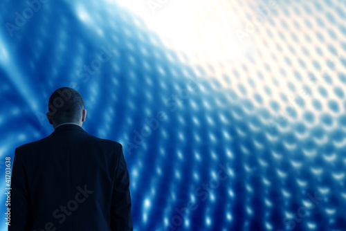 Technology background blue abstract future