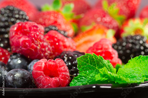 red fruits selection