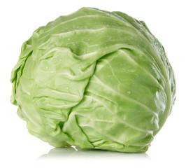 fresh juicy cabbage isolated on white background