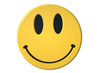 yellow smiley isolated on white background