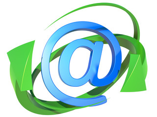 blue symbol of the e-mail
