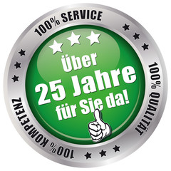 Über 25 Jahre für Sie da! - Button grün
