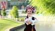Ukrainian dancing in national costume. Donetsk. Euro-2012