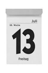 Kalender Freitag 13 Juli
