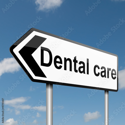 Dental treatment concept.