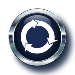 Dönüşüm logosu mavi ikonda