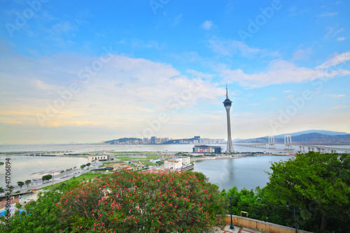 Macau Tower Convention and Sai Van bridge