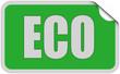 Sticker grün eckig curl oben ECO