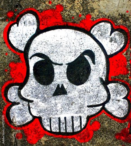 Fototapeten,kopf,tot,graffiti,graffiti